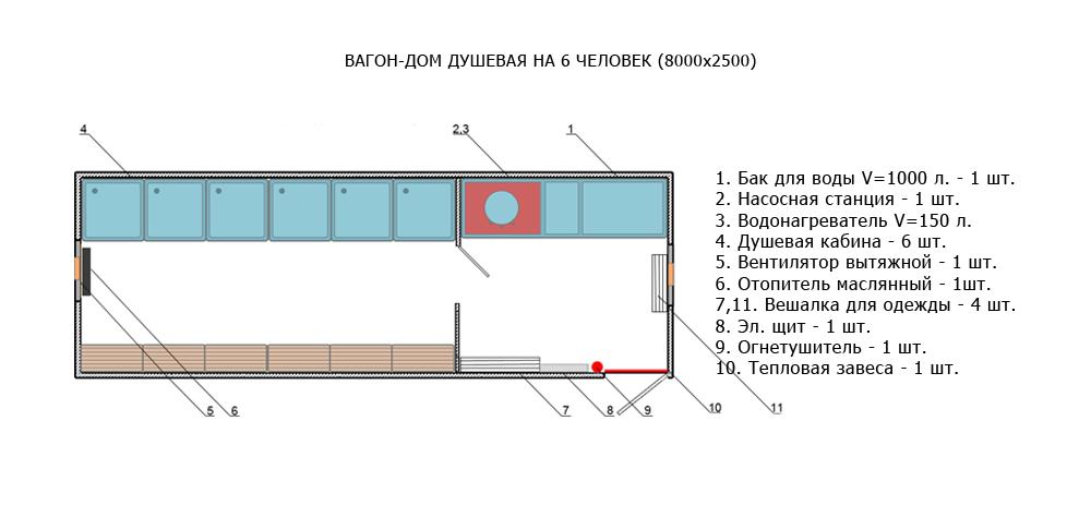 Кухня-столовая на 12 человек (8000×2500)