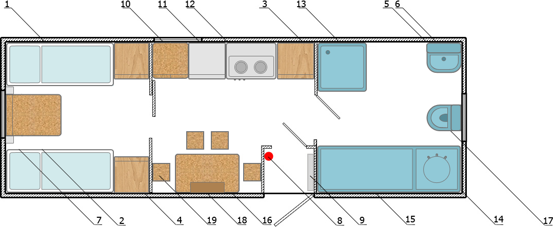 На 4-х человек комфорт (8000×2500)